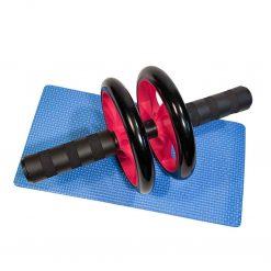 Ab Roller med matta, kom i form – tränar axlar, rygg, bröst och magmuskler