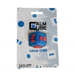 Fidget Cube C-cube Calm Cube Blå/Röd