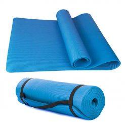 NBR Träningsmatta Blå / Yogamatta extra tjock | För ditt hemmagym | Matta för Yoga