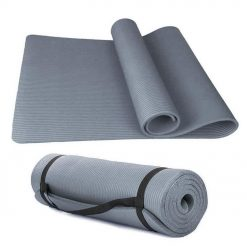 NBR Träningsmatta Grå / Yogamatta extra tjock | För ditt hemmagym | Matta till Yoga